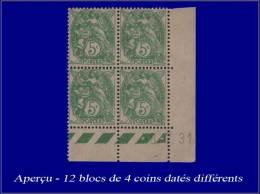 Qualité: XX – 111, Série De 12 Blocs De 4, Cd. Différents (1928/32): 5c. Blanc. Cat... - Stamps
