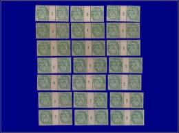 """Qualité: X – 111, Lot De 21 Paires Avec Millésime (certains XX), (5 Avec Millésime """"1""""):... - Stamps"""