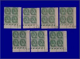 Qualité: XX – 111, 7 Blocs De 4, Cd Différents 1926/29. Cat Price €: 210 - Stamps