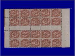 Qualité: XX – 110, Bloc De 20, Sans Millésime: 4c. Blanc. Cat Price €: 550 - Stamps