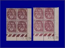 Qualité: XX – 108, 2 Blocs De 4, Cd 7/5 Et 27/5/25: 2c. Blanc. Cat Price €: 160 - Stamps