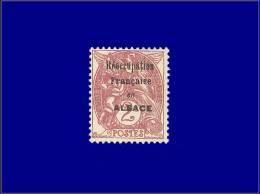 """Qualité: (X) – 108, Surcharge Noire """"Reoccupation Française En Alsace"""":2c. Blanc, (Maury 2 B).... - Stamps"""