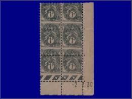 Qualité: XX – 107, Bloc De 6, Cd 2/7/30, Piquage à Cheval (30%): 1c. Blanc. Cat Price €:... - Stamps