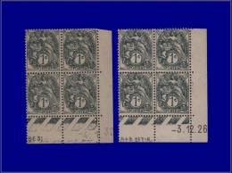 Qualité: XX – 107, 2 Blocs De 4, Cd 3/12/26 Et 4/1/32: 1c. Blanc. Cat Price €: 145 - Stamps