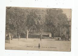 Cp , 30 , PONT SAINT ESPRIT , Place De La République , Voyagée 1918 , F.M. - Pont-Saint-Esprit