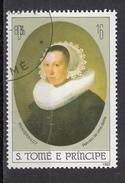 """691b S. Tomè Principe 1983 """" Ritratto Di Giovane Donna """"  Quadro Dipinto Da Rembrandt  Barocco Paintings"""