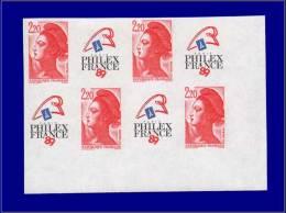 Qualité: XX – 2461, Bloc De 4, Cdf: 2.20 Philexfrance, Liberté. Cat Price €: 200 - Stamps