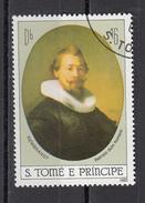 """691a S. Tomè Principe 1983 """" Ritratto Di Giovane Uomo """"  Quadro Dipinto Da Rembrandt  Barocco Paintings"""