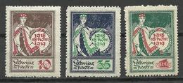 LETTLAND Latvia 1919 Michel 33 - 35 * - Lettonie