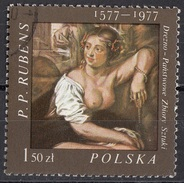 "2210 Polonia 1977 "" Betsabea Al Bagno "" Quadro Dipinto Da P.P. Rubens Preobliterato Paintings Poland Polska - Nudes"