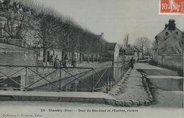 60, Oise, CHAMBLY, Quai Du Bas-Saut,et L'Esches, Riviére,animations, Scan Recto-Verso - Francia