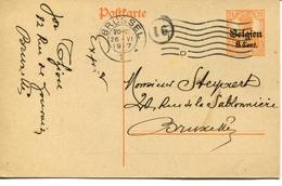 Postkaart Bezetting 1917 Brussel -  - See Scan - Army: German