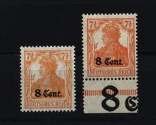 Etappe West,3b,xx,gep. Dazu 3a Als Vergleichsstück, - Besetzungen 1914-18