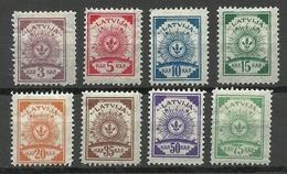 LETTLAND Latvia 1919 = 8 Werte Michel 6 - 14 A * - Lettland