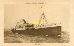 Bateaux, Le Cephée Des Messageries Maritimes - Dampfer