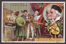 CHROMO CHOCOLAT MEURISSE - Série III N°5 -  Grauss & Weber - Inventeur Du Télégraphe - Chocolat