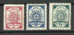 LETTLAND Latvia 1919 Michel 3 - 5 A * Incl Mi 5 A Type B = Russischgrün/russian Green! - Latvia