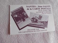 3e SALON DE LA CARTE POSTALE .....NANTES 1981 ... - Bourses & Salons De Collections