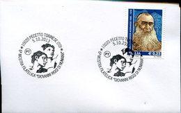 17639 Italia, Special Postmark  Pecetto Torinese  2013  Showing Painting Of Michelangelo, Adam & Eva - Autres