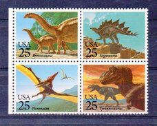 ETATS UNIS  Série De Timbres Neufs ** De 1989  ( Ref 4267A ) Animal - Dinosaure - Vereinigte Staaten