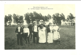 54 LUNEVILLE  FETE DE SAINT ANTOINE 1908 LA NOCE TRAGIQUE PERSONNEL DE RESTAURANT STATUE JEANNE D ARC MEURTHE ET MOSELLE - Luneville