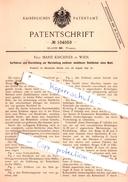 Original Patent - Frau Marie Kirchner In Wien , 1897 , Weberei !!! - Historische Dokumente