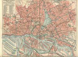 Hamburg-Altona Ca. 1910 - Maßstab 1:40'000 - 24cm X 31cm - Rückseitig Hamburg Innere Stadt Und Umgebung Von Hamburg Sowi - Landkarten