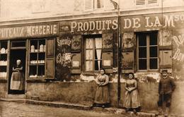 CPA PHOTO RARE - BELLE ANIMATION - PUTEAUX MERCERIE - PRODUITS DE LA MAISON - Puteaux