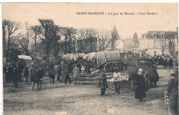 Cpa 79  St Maixent  Un Jour De Marché Place Denfert - Saint Maixent L'Ecole