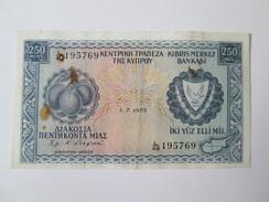 Cyprus 250 Mils 1975 - Chypre
