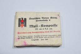 Pansement / Compresse Croix Rouge Allemande WW2 Allemand Ww2 Deuxième Guerre Mondiale 1939/1945 WWII - 1939-45