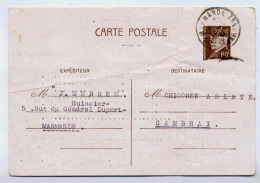 ENTIER PETAIN CARTE AVEC DEFAUTS - Postal Stamped Stationery