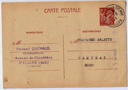 ENTIER MERCURE - Postal Stamped Stationery