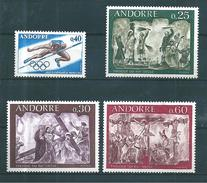 Andorre Francais Timbres De 1968  N°190 A 193  Neufs ** - Andorre Français