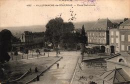VILLEFRANCHE DE ROUERGUE -12- PLACE NATIONALE - CACHET MILITAIRE - Villefranche De Rouergue