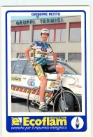 Giuseppe PETITO .  2 Scans. Cyclisme. Ecoflam Gis - Radsport
