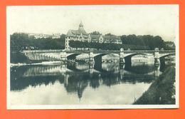 """CPA Photo Glaçée Besançon  """" Pont Carnot Et Cité Universitaire """" Edit Delboy - LJCP 22 - Besancon"""