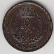 @Y@    Libië  5 Milliemes   1952   (4432) - Libië