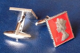 Cufflinks, Made After British Stamps, Marks & Spencer, New - Gioielli & Orologeria