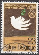 Belgique 1986 COB 2202 O Cote (2016) 0.50 Euro Année Internationale De La Paix Cachet Rond - Belgique