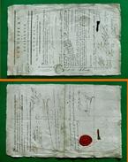 D-FR Révolution 1793 NIORT Deux-Sèvres Certificat De Résidence Cachet De Cire Rouge Signatures - Documents Historiques