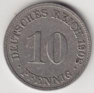 @Y@    Duitsland  10  Pfennig  1908  D   (4436) - 10 Pfennig
