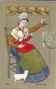 Costume Lorrain Femme Et Enfant Quetsche Et Chardons Lorraine - Illustratori & Fotografie