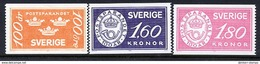 SWEDEN 1984 Savings Bank Centenary  MNH / **.  Michel 1267-69 - Unused Stamps