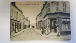 GAMACHES  80 RUE DE LA POSTE SOMME CPA Animee Postcard - France