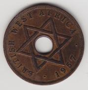 @Y@  Brits West Afrika     1 Penny  1957   (4440) - Munten
