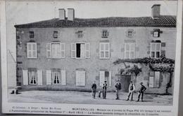 """87 - Morterolles - """"maison Où S'arrêta Le Pape Pie VII, Prisonnier De Napoléon 1er En Avril 1812"""" 1906 - Autres Communes"""