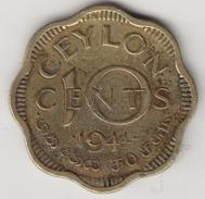 @Y@    Ceylon   10 Cents  1944    (4442) - Sri Lanka (Ceylon)