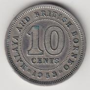 @Y@    Maleisië En Brits Borneo   10 Cents   1953   (4445) - Malaysia