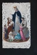 IMAGE PIEUSE CANIVET DENTELLE NOTRE DAME DES ENFANTS BOUASSE LEBEL PARIS - Images Religieuses